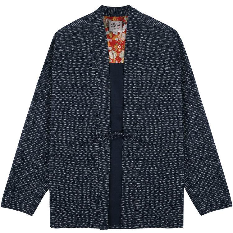 Naked & famous kimono shirt une surchemise noragi à petit prix
