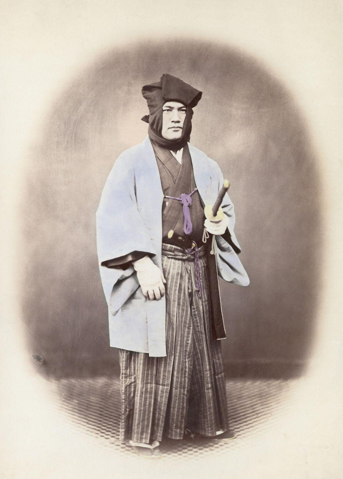 samourai portant haori+kosode+akama
