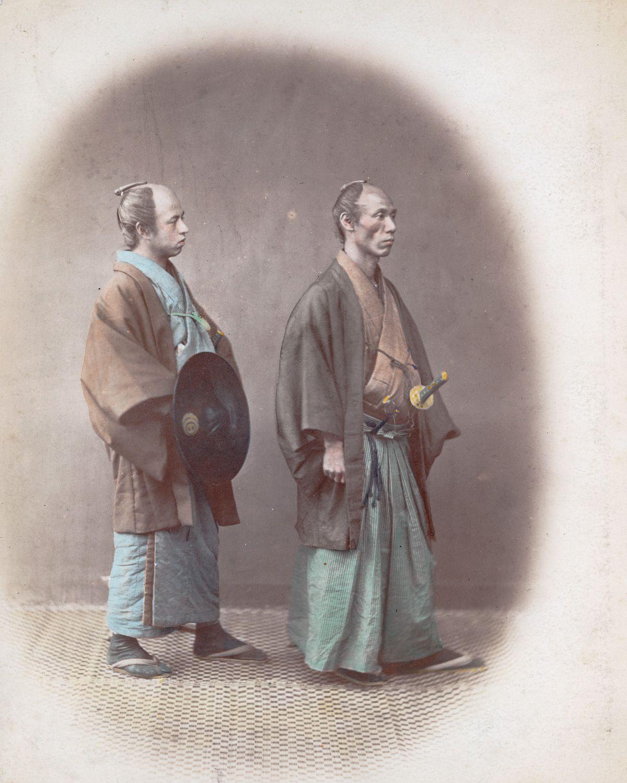 samourai portant haori+kosode+akama 1865
