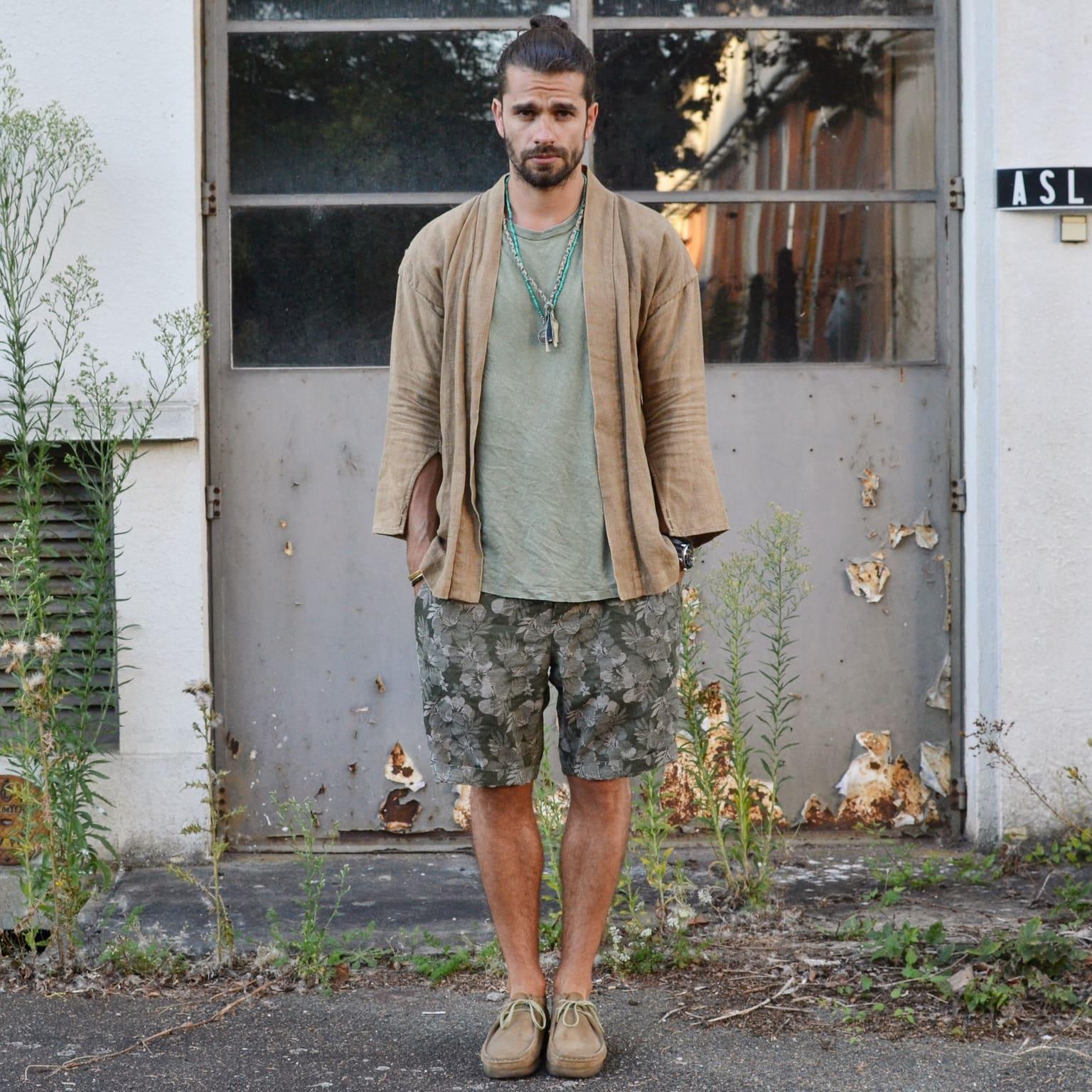 comment porter des clarks wallabee en été dan un look homme noragi