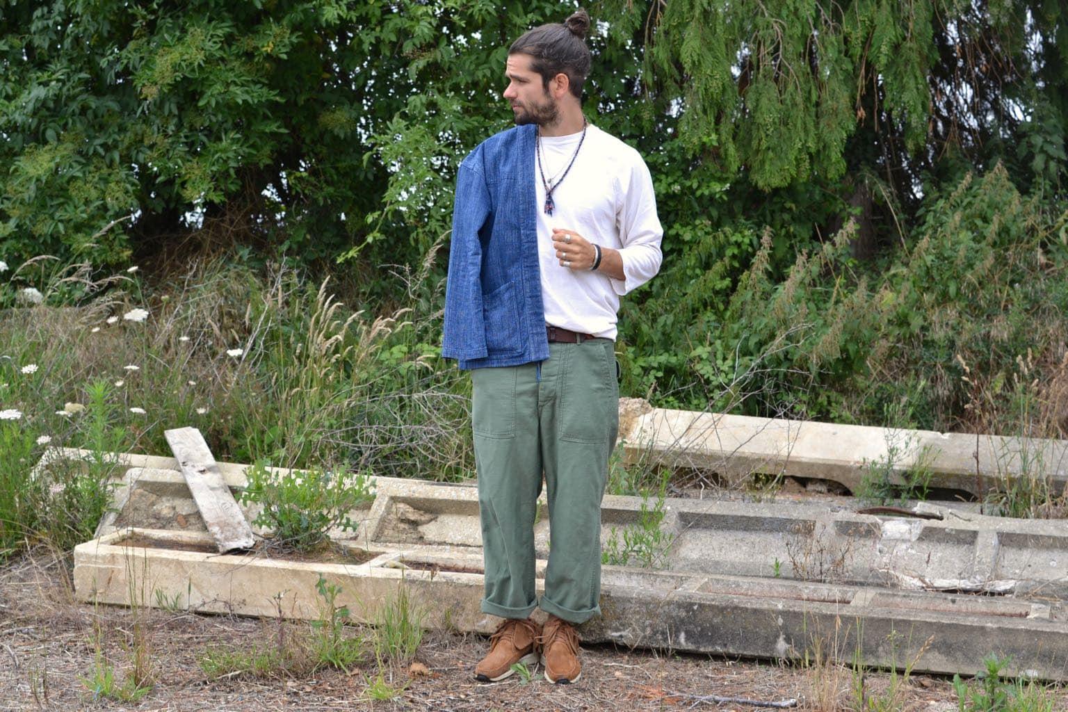 comment porter un pantalon fatigue pants militaire dans un style homme avec noragi borali