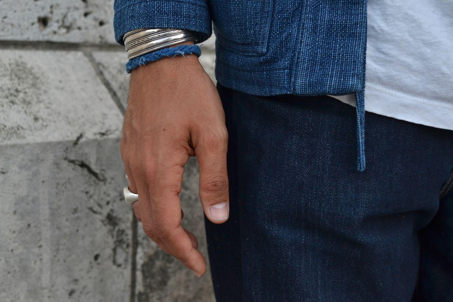 Bracelet en tissus recyclés et tressés à l amain made in France de la marque Borali