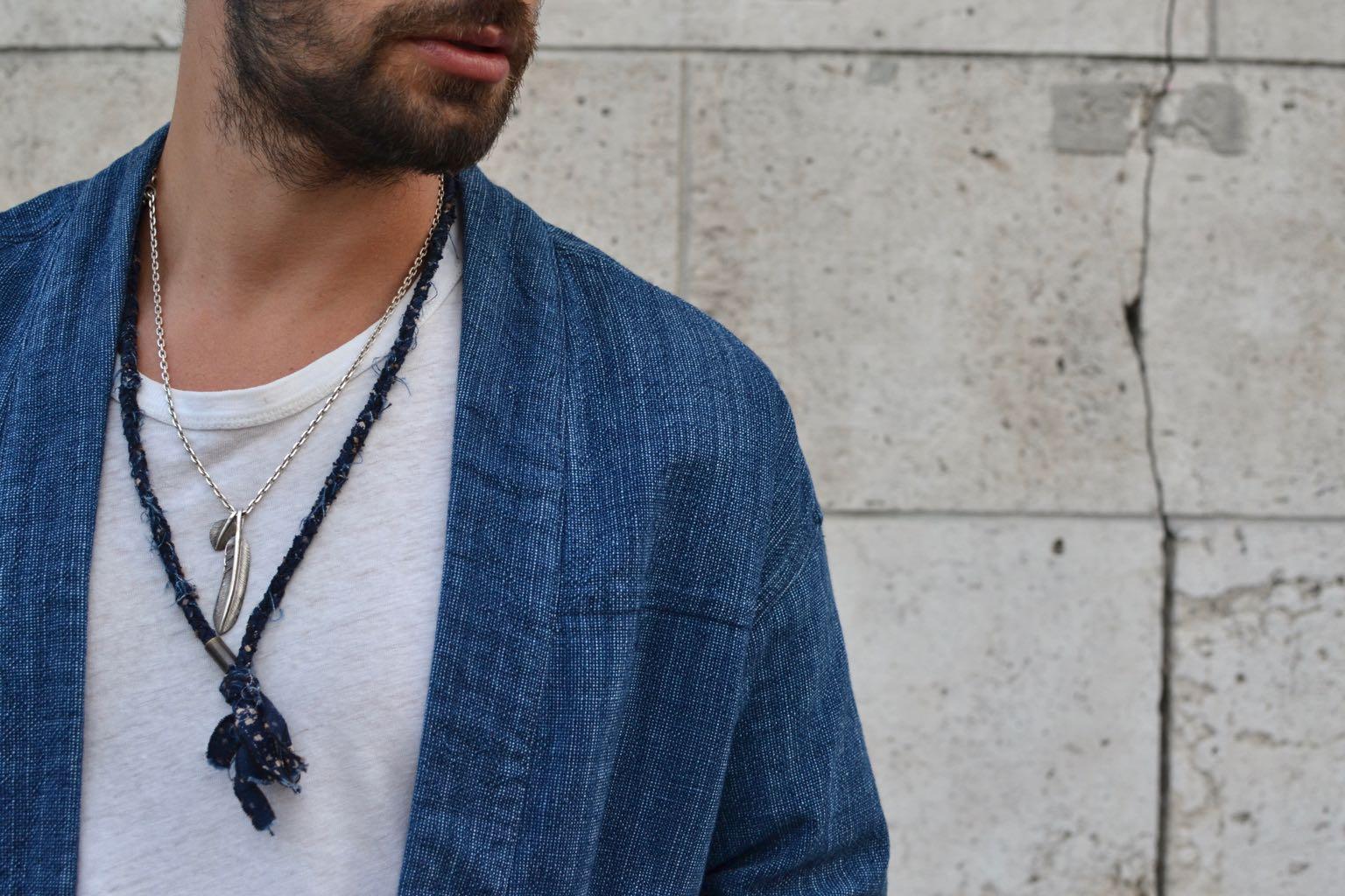 lookbook noragi en coton japonais Borali x bonneguelue et bijoux en argent pour homme bvitnage first arrows et borali
