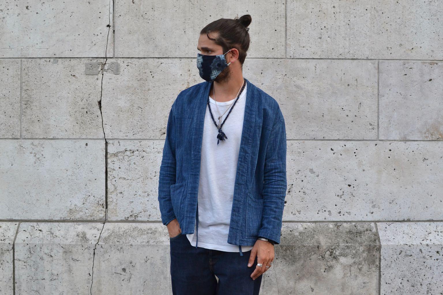 idée look homme été avec veste noragi borali et comment porter un masque covid19