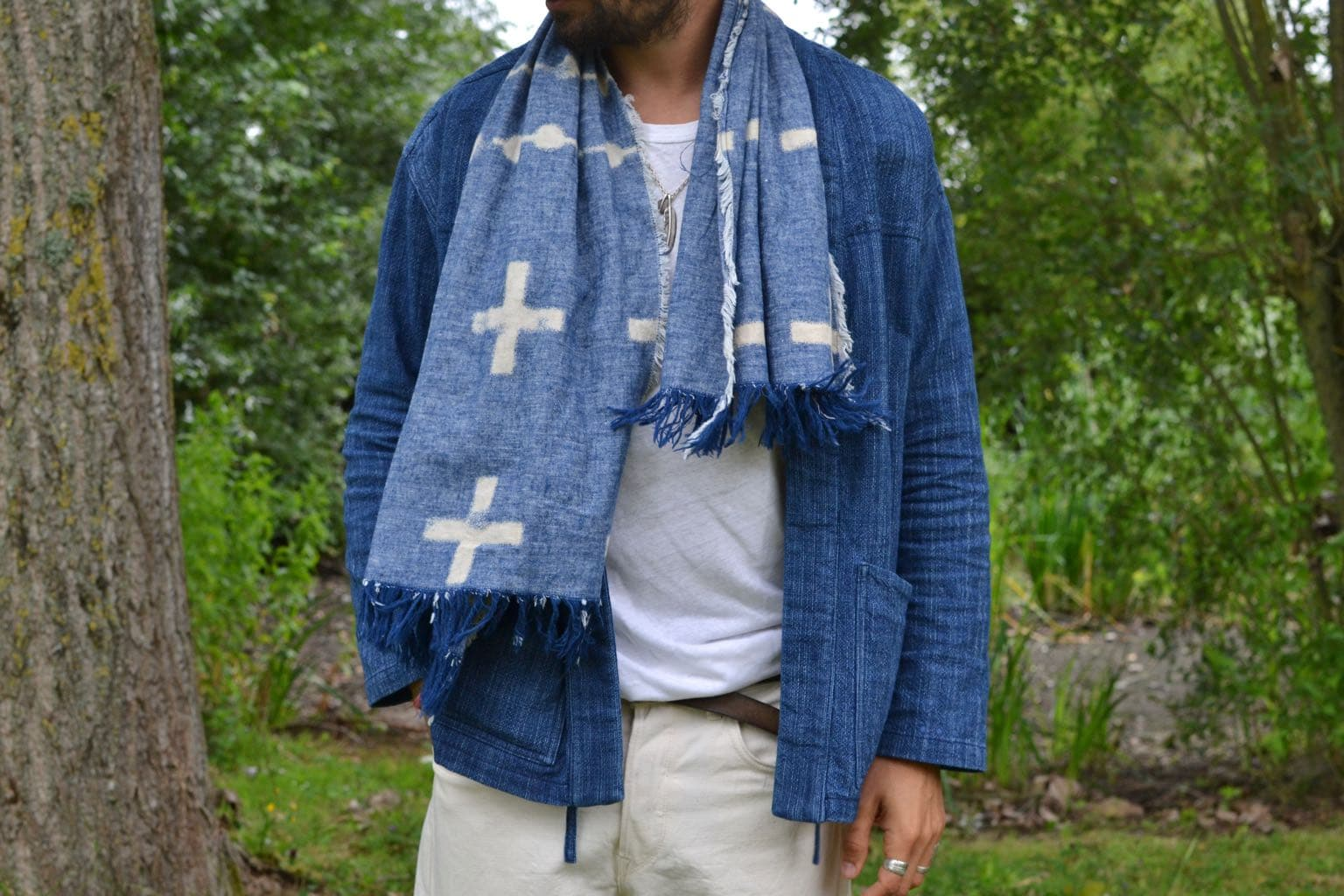 veste d'inspiration kimono appelée noragi de la marque borali en collab' avec BonneGueuel - étolle Visvim