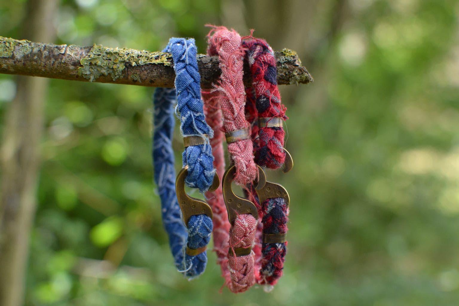 bracelet pour homme borali en tissu tressé et recyclé - mode upcycling - street heritage