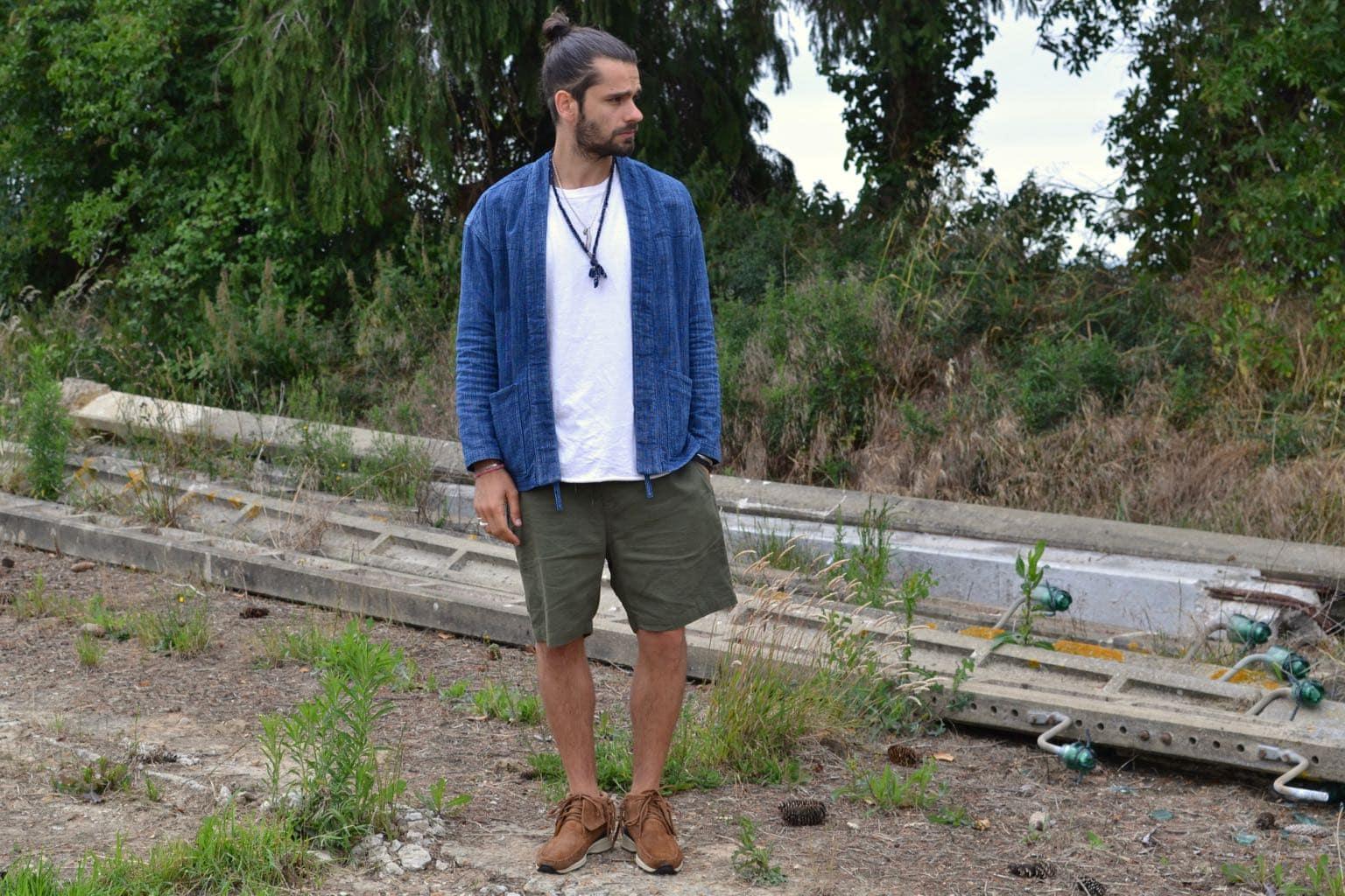 idée look homme workwear été style street heritage avec noragi borali kimono homme