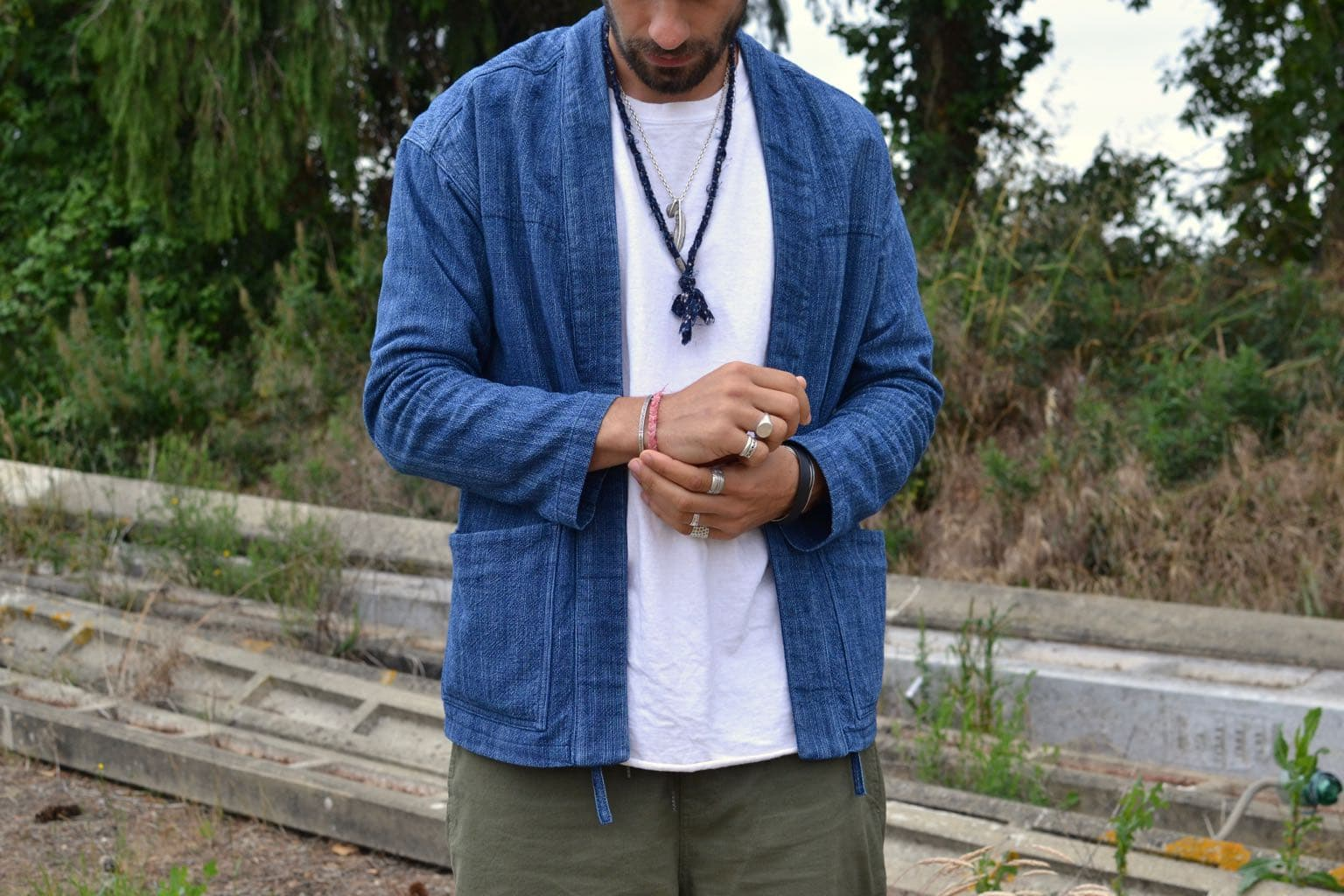 Comment porter la noragi Borali en collaboration avec BG - idée look homme accessoire styel été