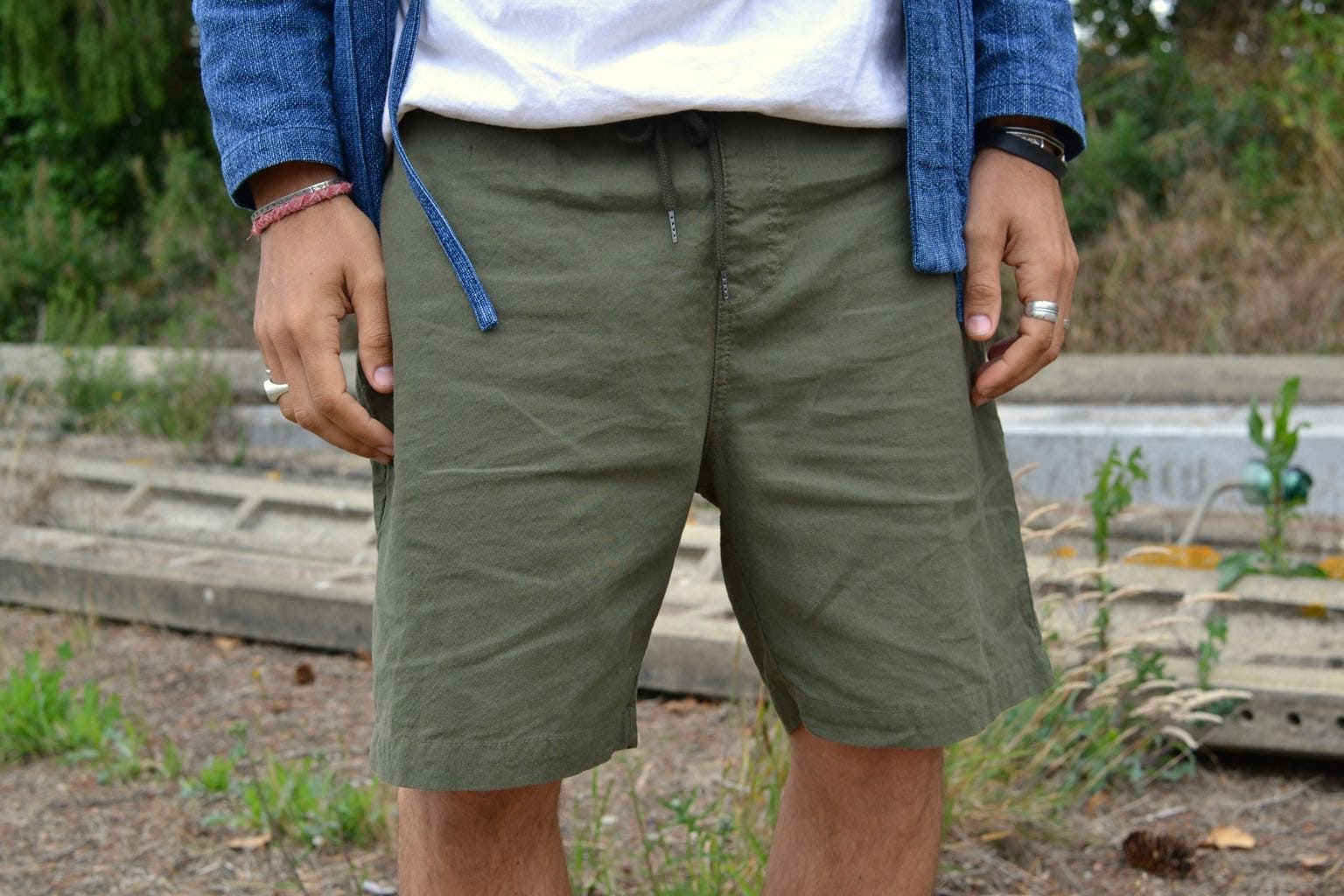 Drapeau Noir beach shorts seersucker - conseul homme été quel short choisir