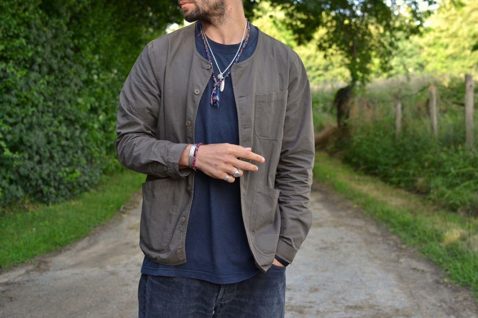 Kestin overshirt ripstop neist - look workwear été homme style street heritage - bracelet borali