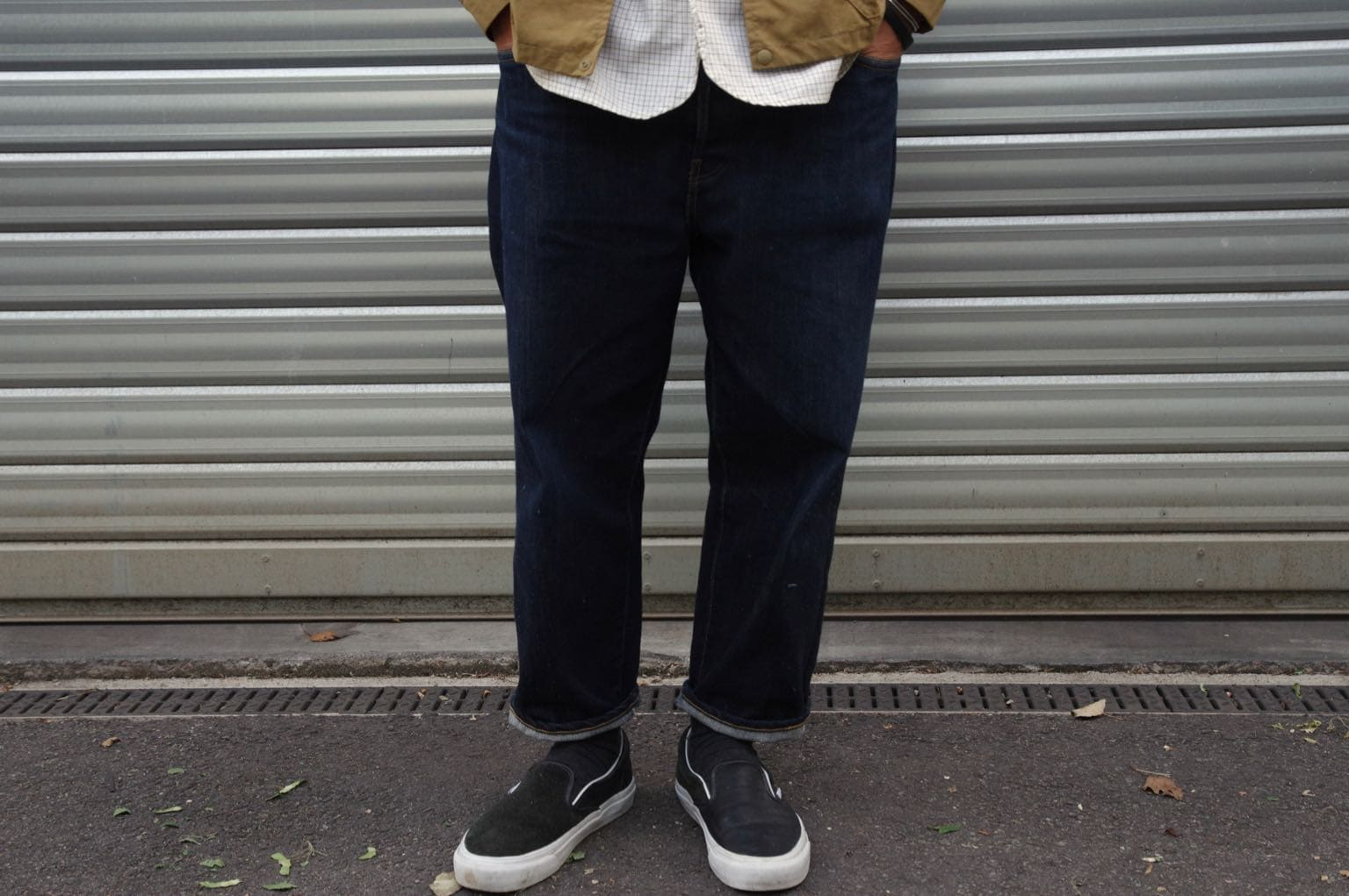 Hatski denim loose tapered jean coupe size-up comme le porter style homme