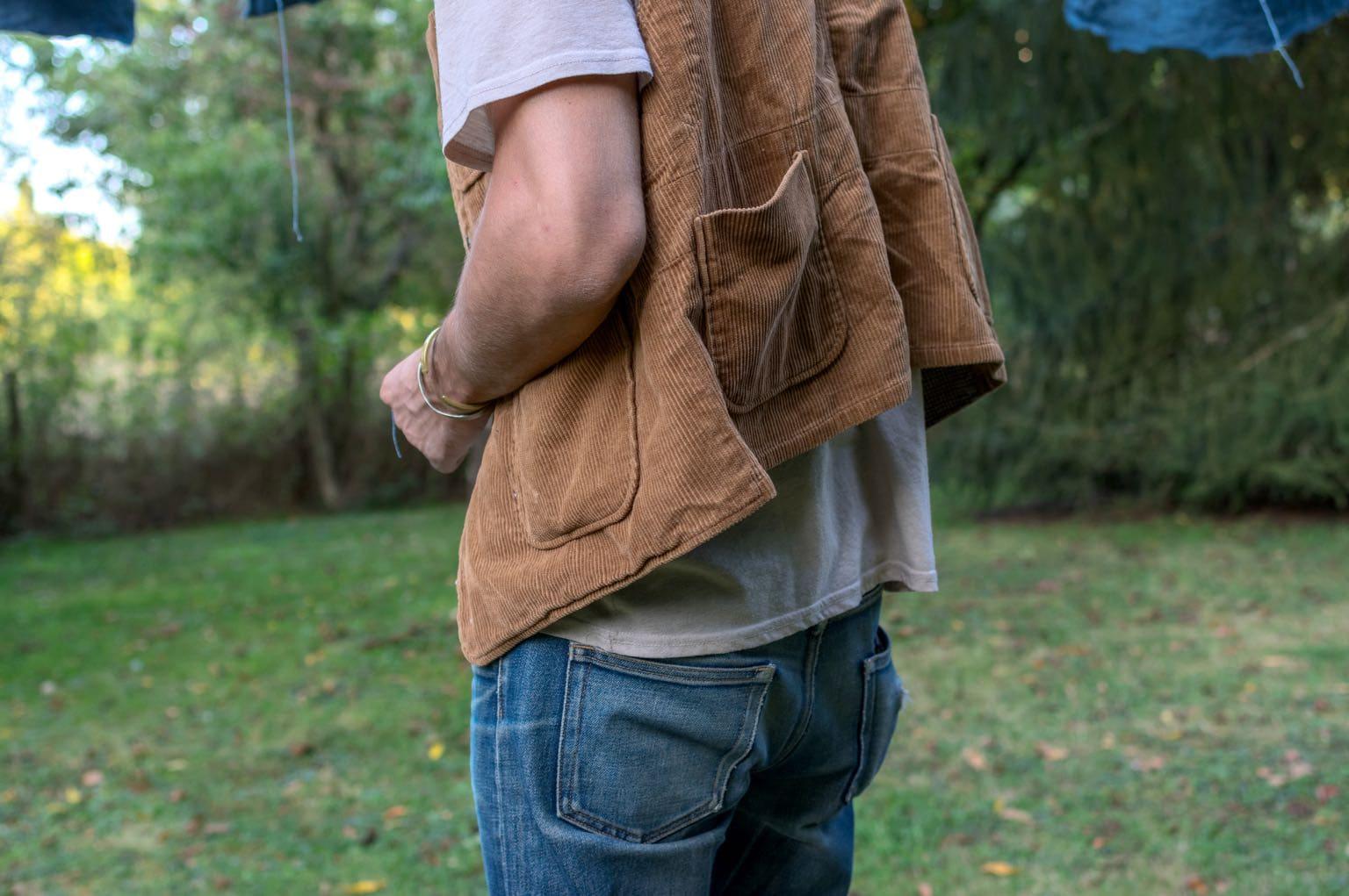 Engineered Garments Brown 8W Corduroy Upland Vest