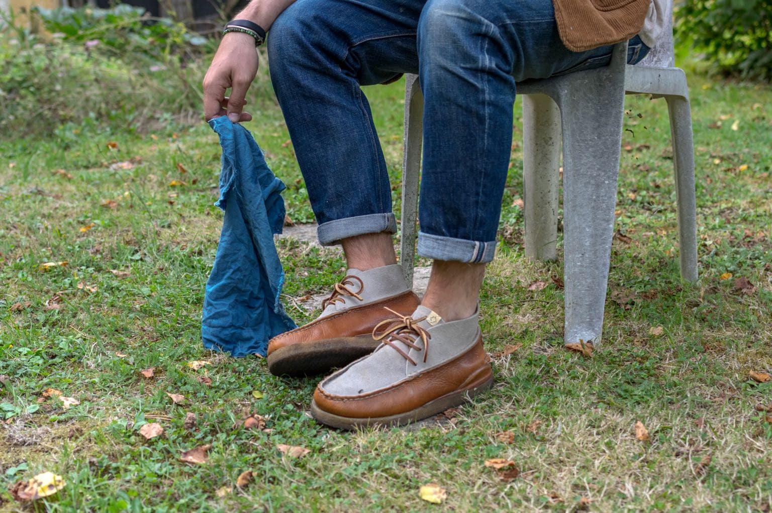 Visvim canoe moc mid-folk shoes - native shoes