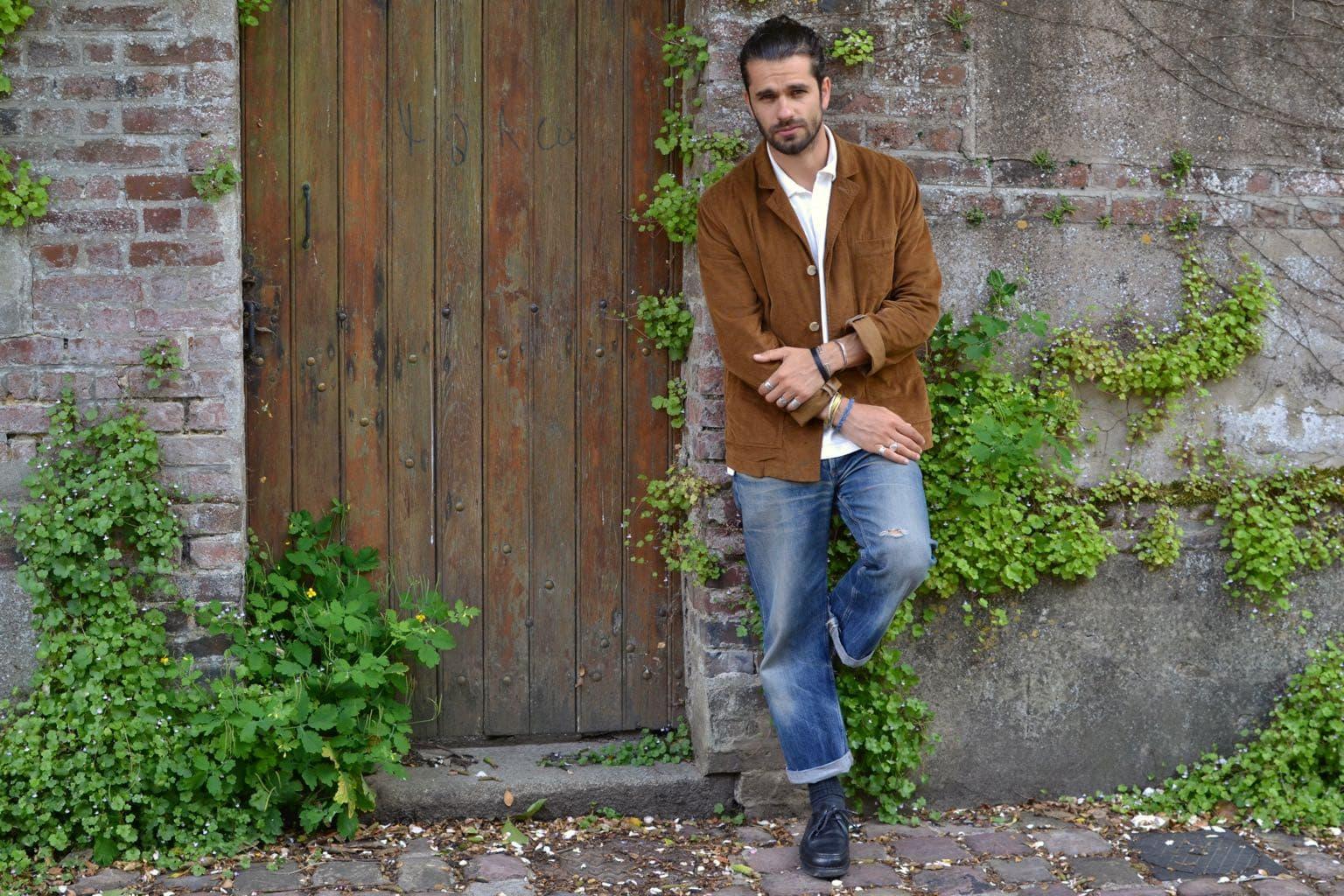 Kestin Kenmore cord blazer tobacco - comment porter style workwear été et des paraboot michael homme