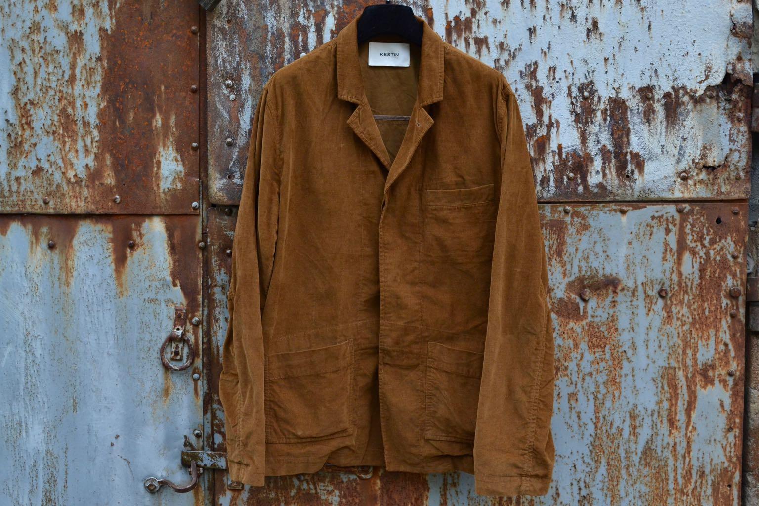 Kestin-hare-Kenmore blazer & Inverness trouser in tobacco Brisbane Moss cord