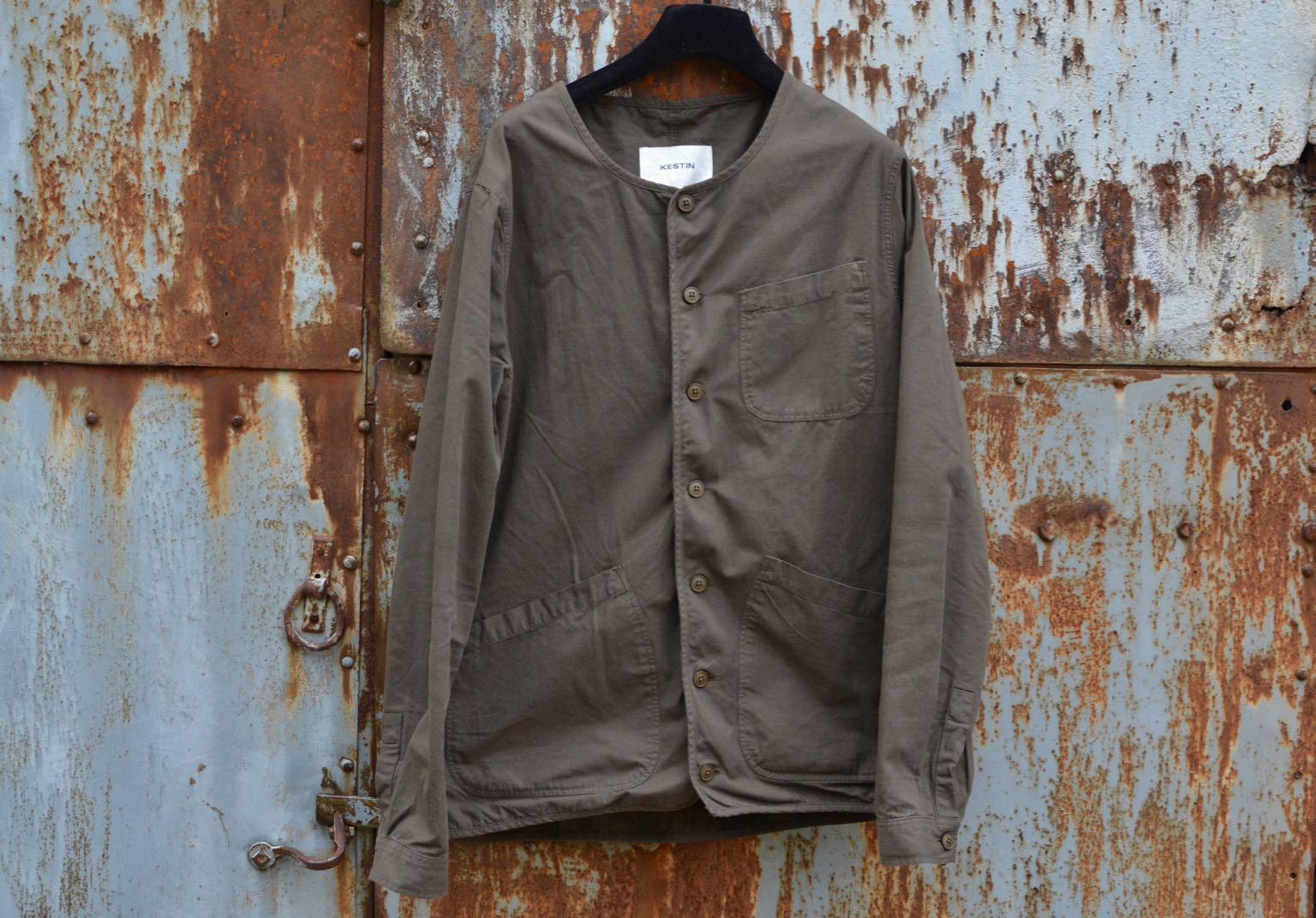 Kestin-hare-Neist overshirt in olive ripstop cotton - 1