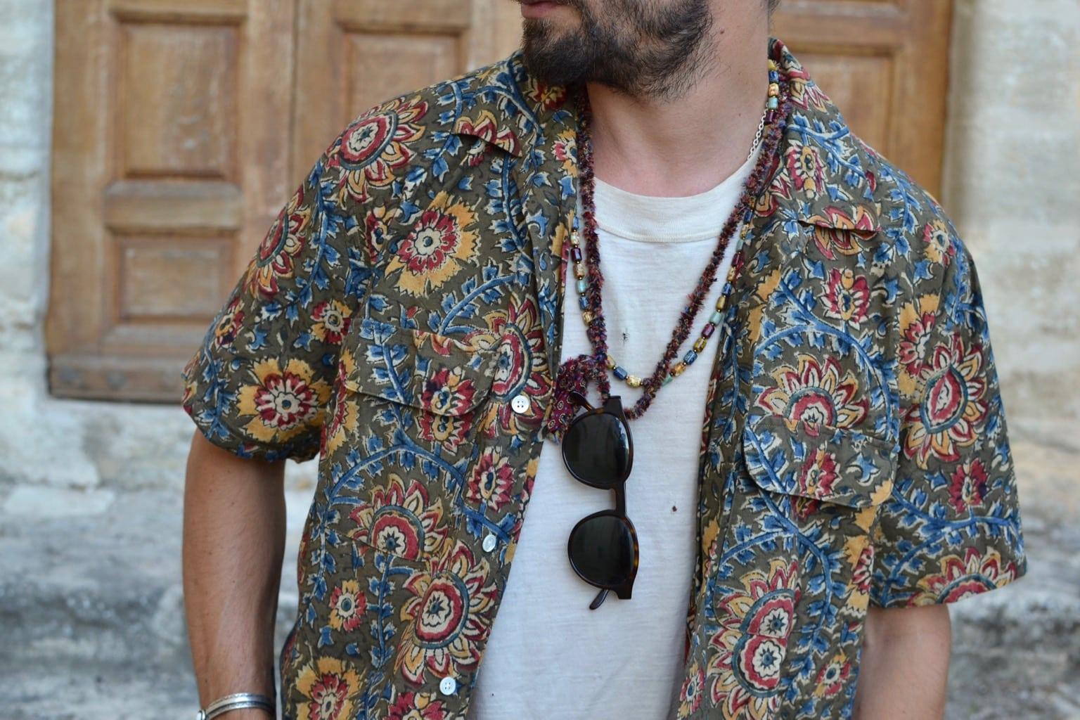 collier Borali pour homme et femme, un bijou en matière recyclé fait en France à la main