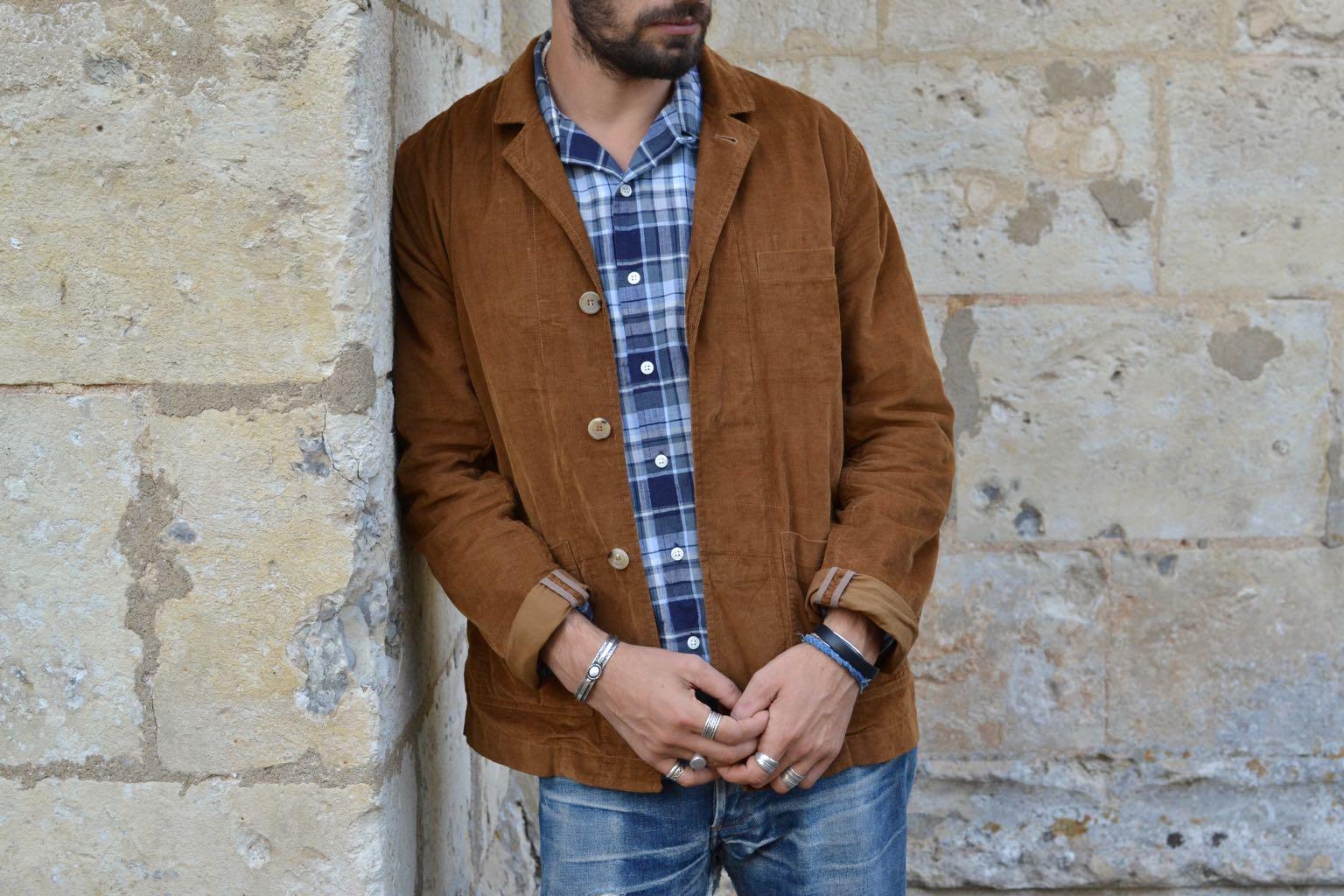 idée tenue homme style workwear été avec blazer velours casual kestin kenmore et mocassin malfroid shoes