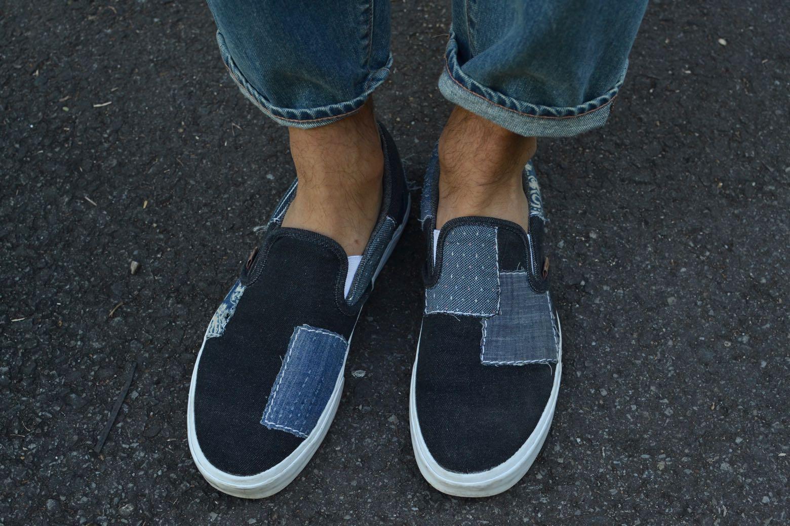 Vans California Denim Boro Slip On Shoes – 2016 release