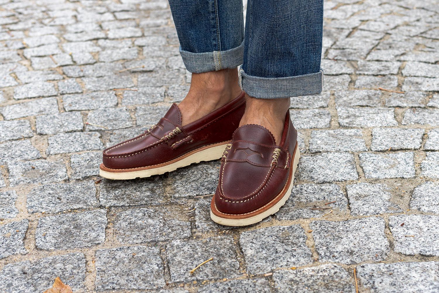 penny loafers Yuketen horween leather vibram soles