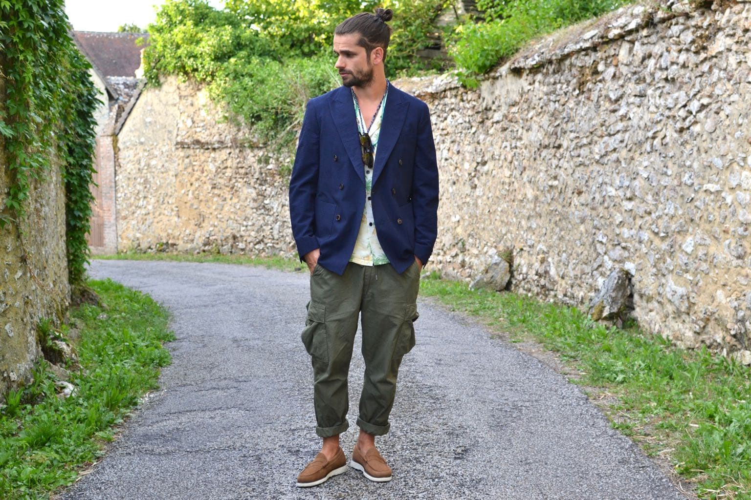 comment porter un blazer croisé destructuré bonnegueule dans un style homme été street heritage