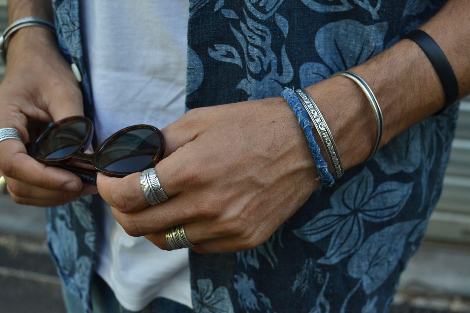 bijoux pour homme - bracelet borali en tissu recyclé et tressé à la main - made in france