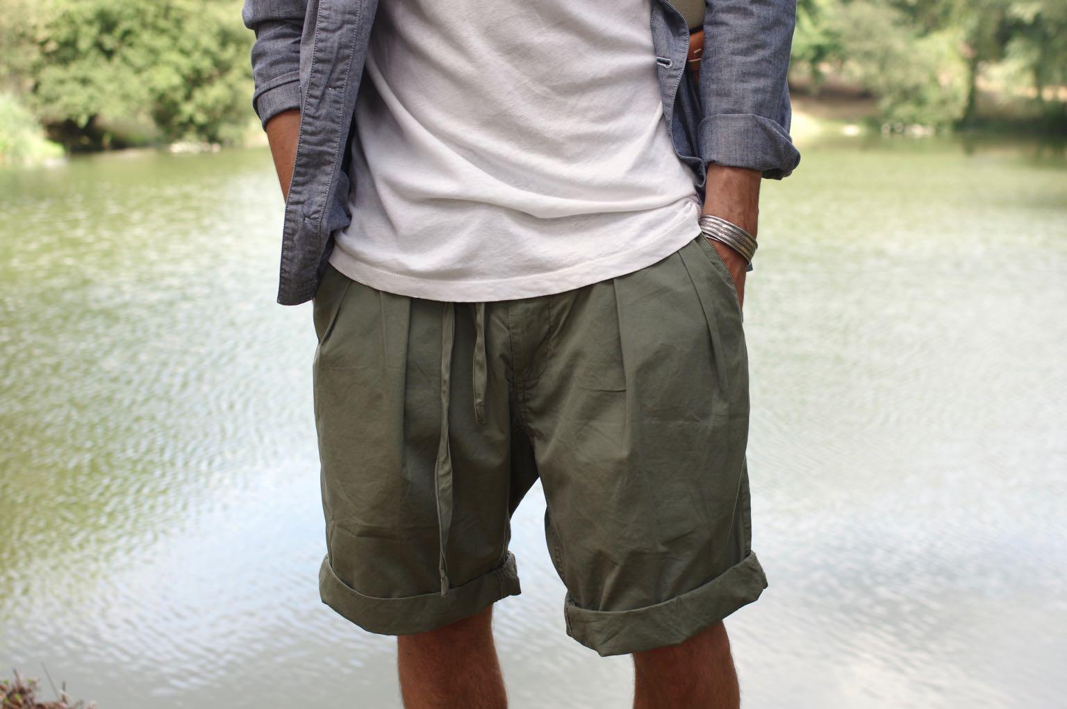 monitaly shorts et comment porter un short ample et large avec style tenue homme
