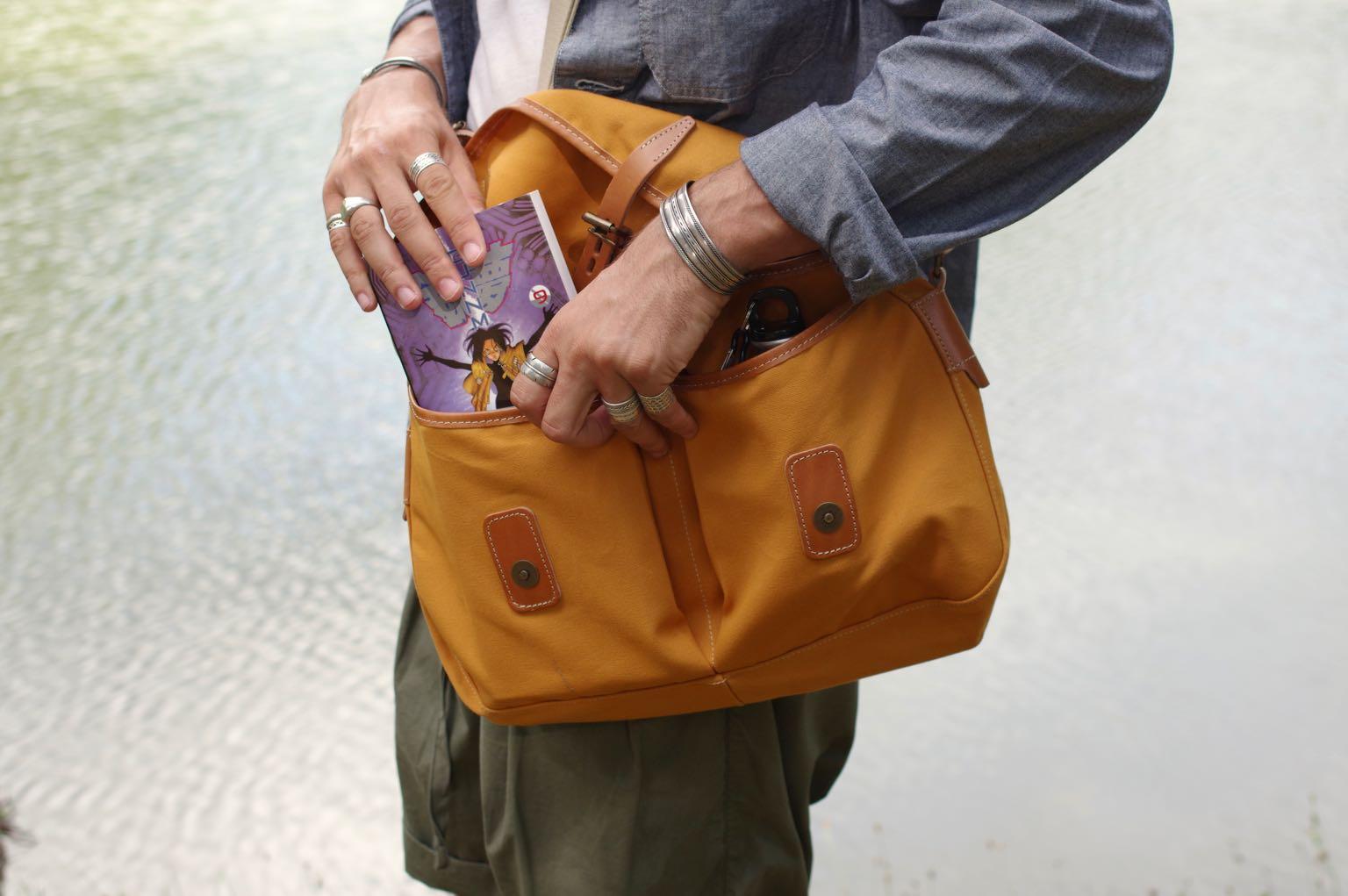 bleu de chauffe et sa musette du pêcheur - ide sac workwear heritage homme