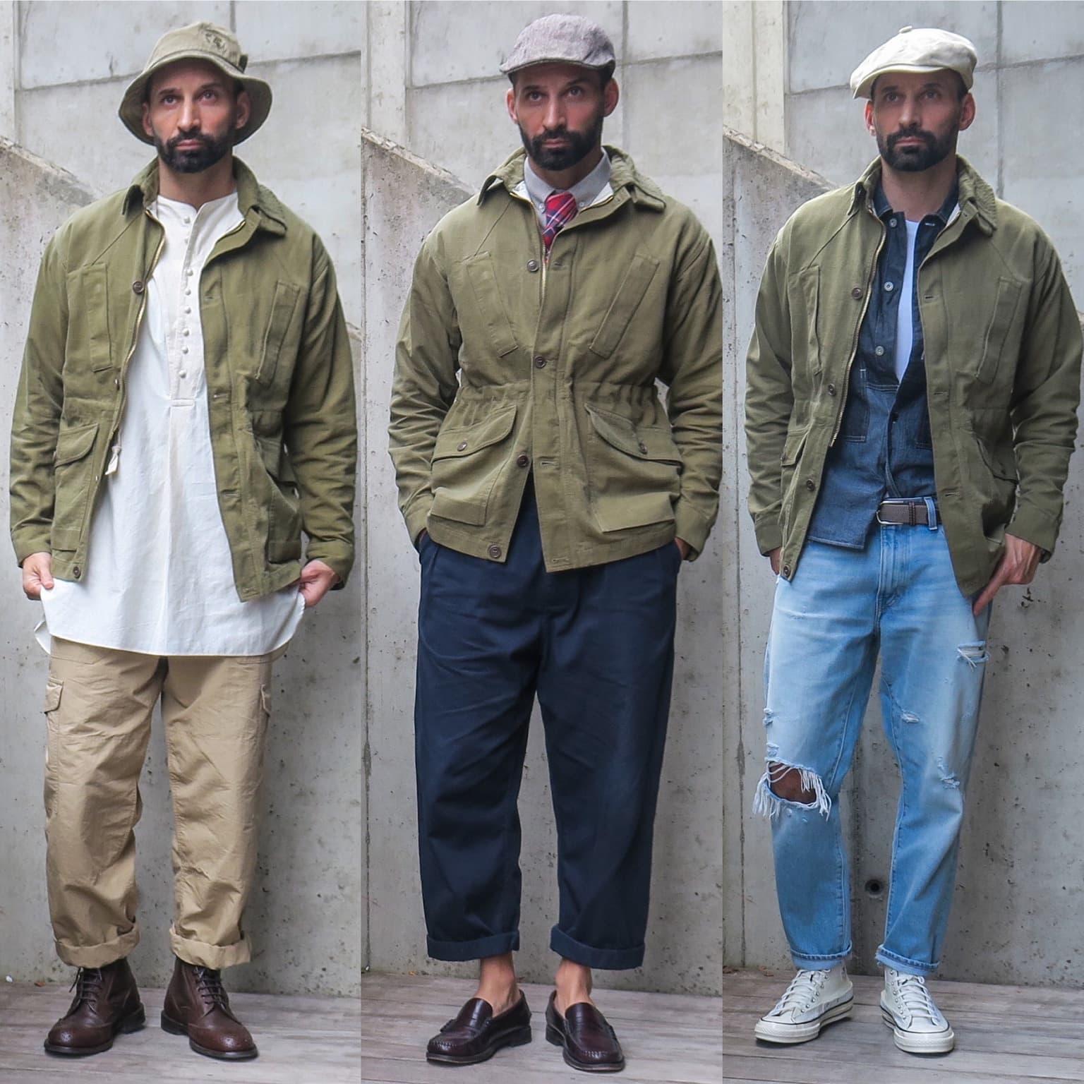 field jacket 1st pat-rn - carrier jacket - comment porter une veste militaire avec style homme