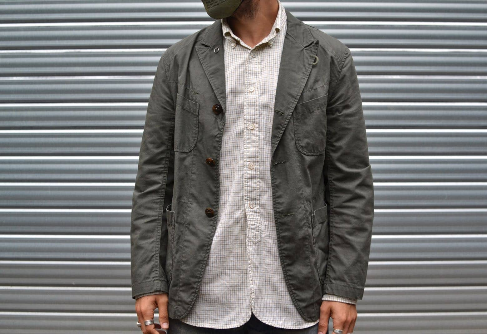 conseil style homme porter blazer casual militaire bedford jacket engineered garments BD shirt