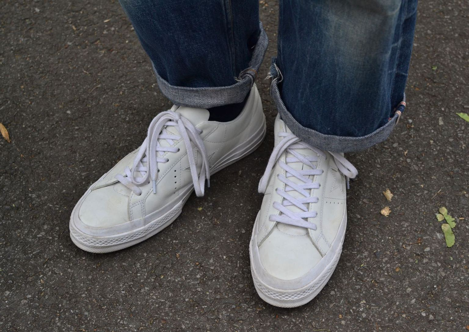 Converse x Engineered Garments one star sneakers white leather jean apx selvedge