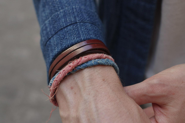 Nos bracelets Borali après des mois de port quotidien (noués ensembles)