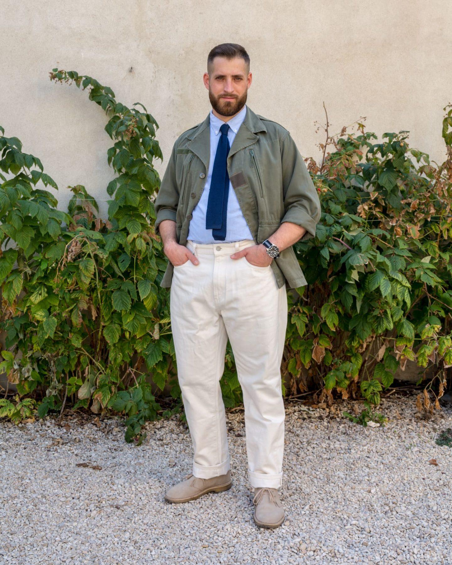 porter vêtement militaires vintage friperie style homme