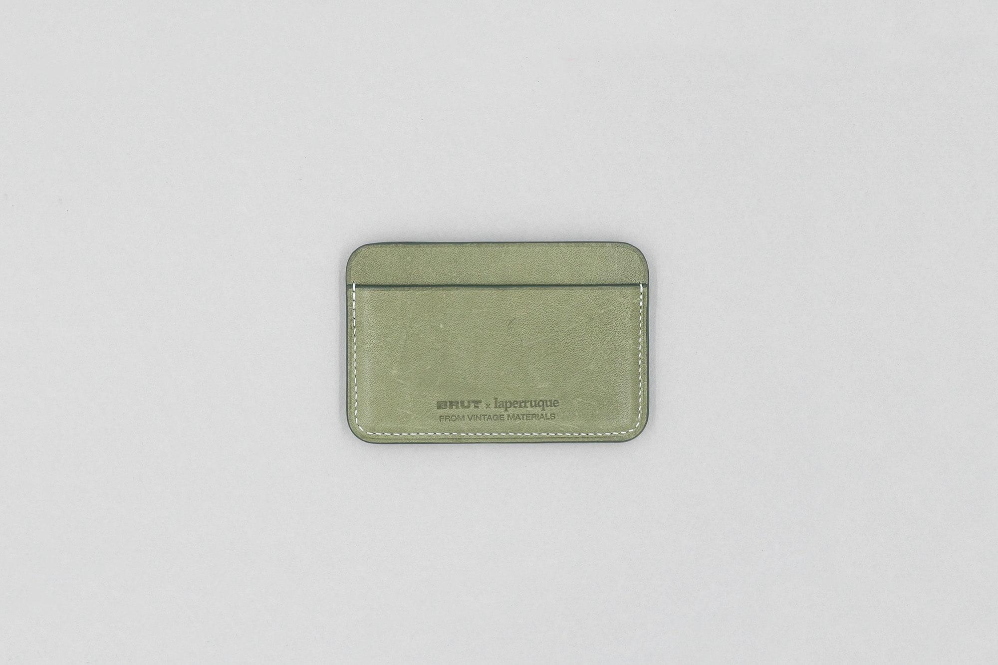 Porte-Cartes en Cuir de Tablier Vintage laperruque x brut