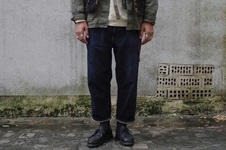 hatski denim loose tapered -coupe tapered de jean stylé idée look