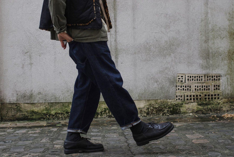 comment porter un jean size-up upsize loose coupe tapered - idées look paraboot