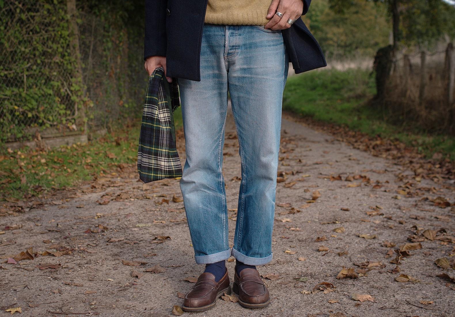 comment porter un jean levi's 501 bleach clair vintage
