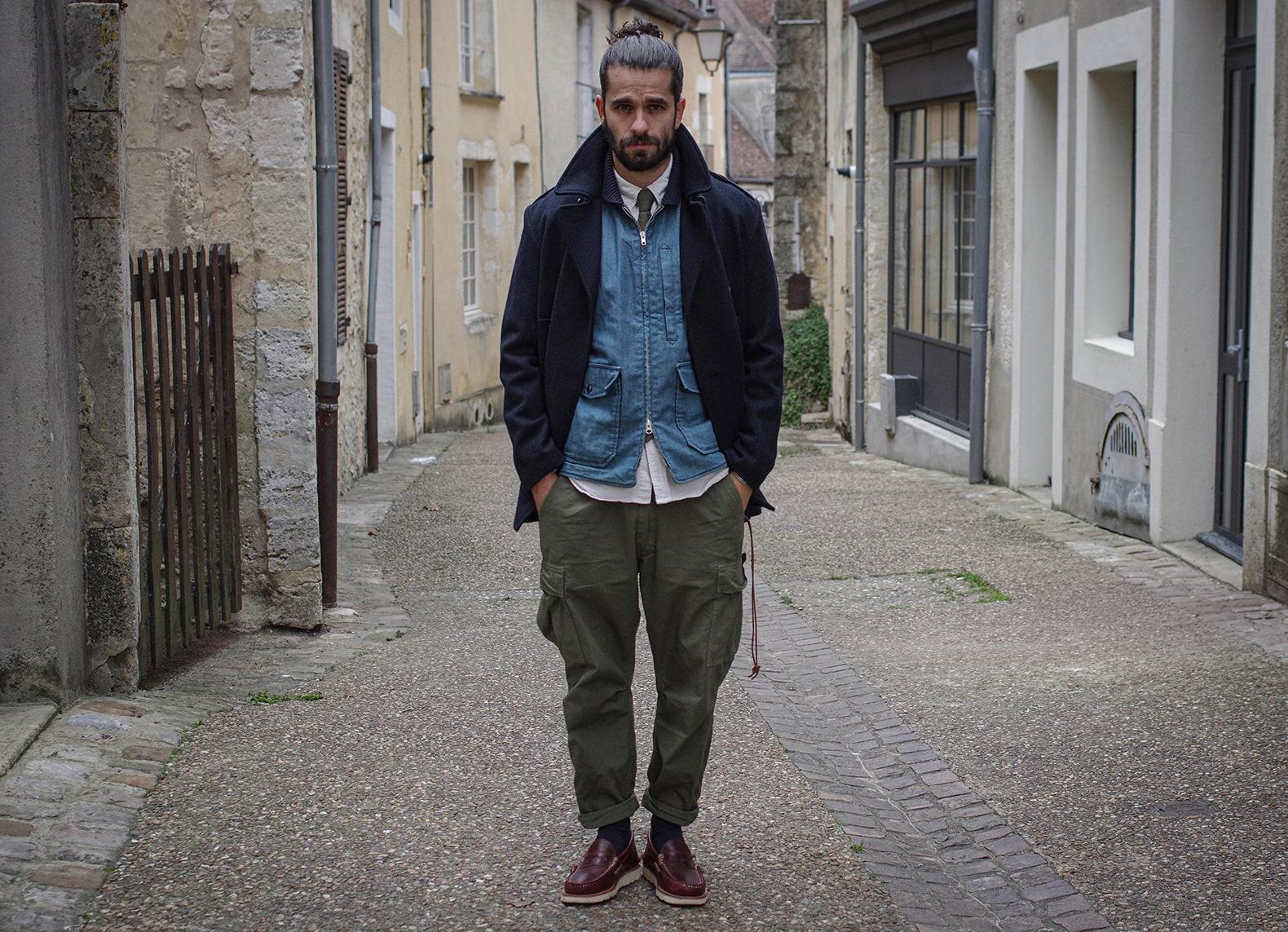 porter un caban look homme workwear street heritage