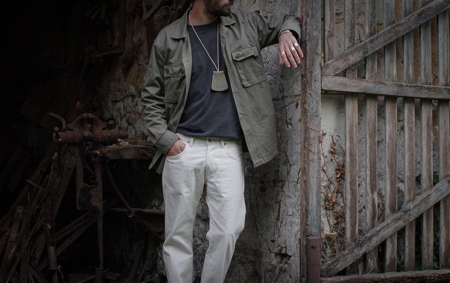 comment porter un jean blanc - paraboot michael noire - laperruque x brut