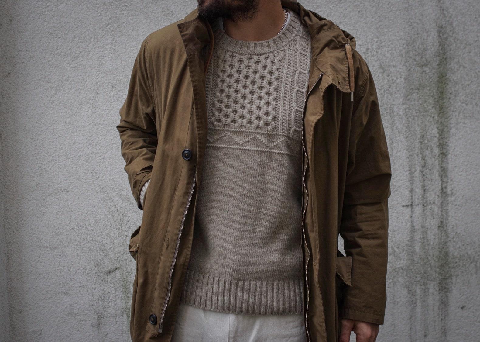 pull en laine baby merinos atelier particulier en collab avec inis meain