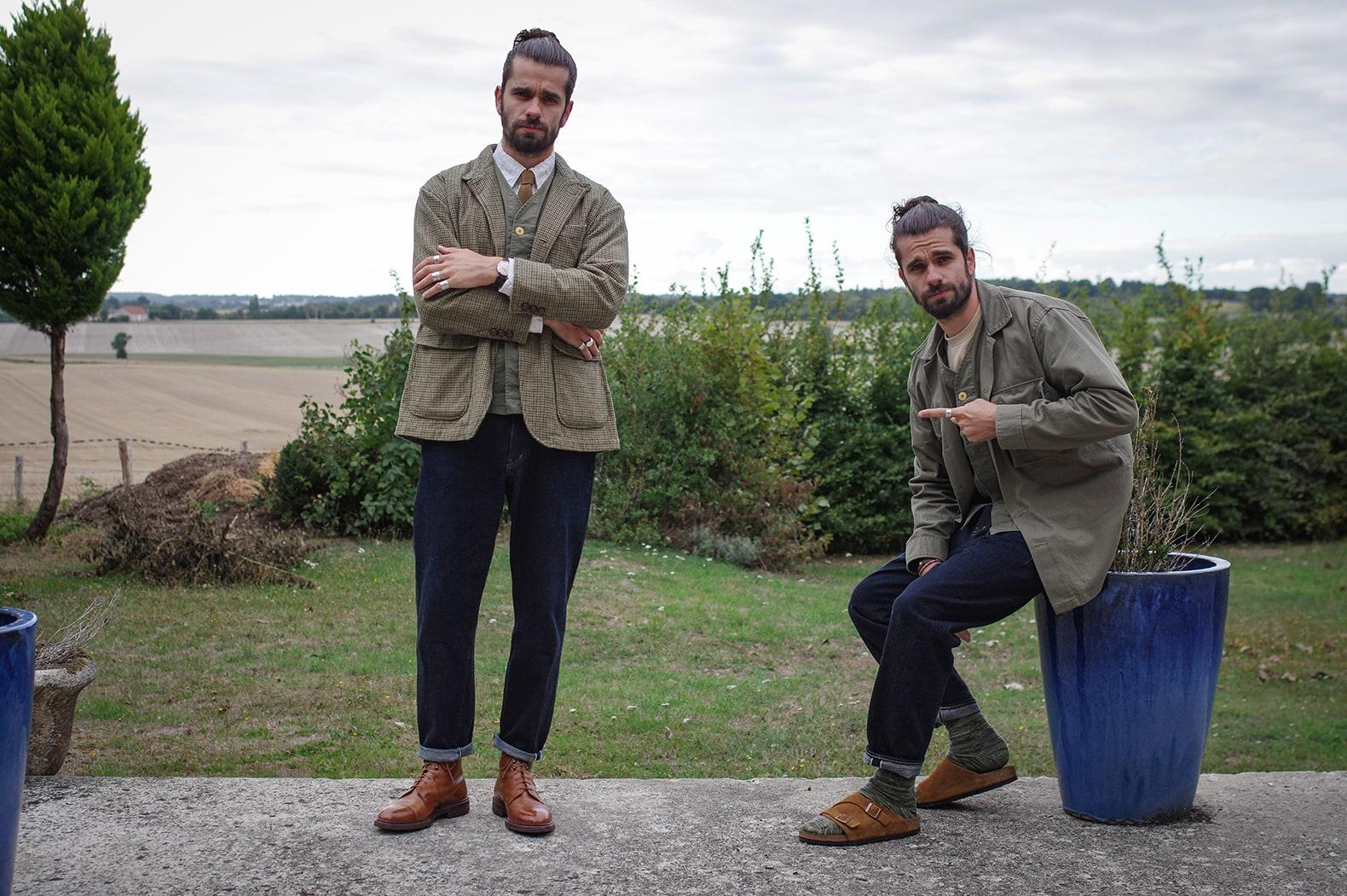 idée de tenue homme style workwear et conseil comment porter jean taille haute