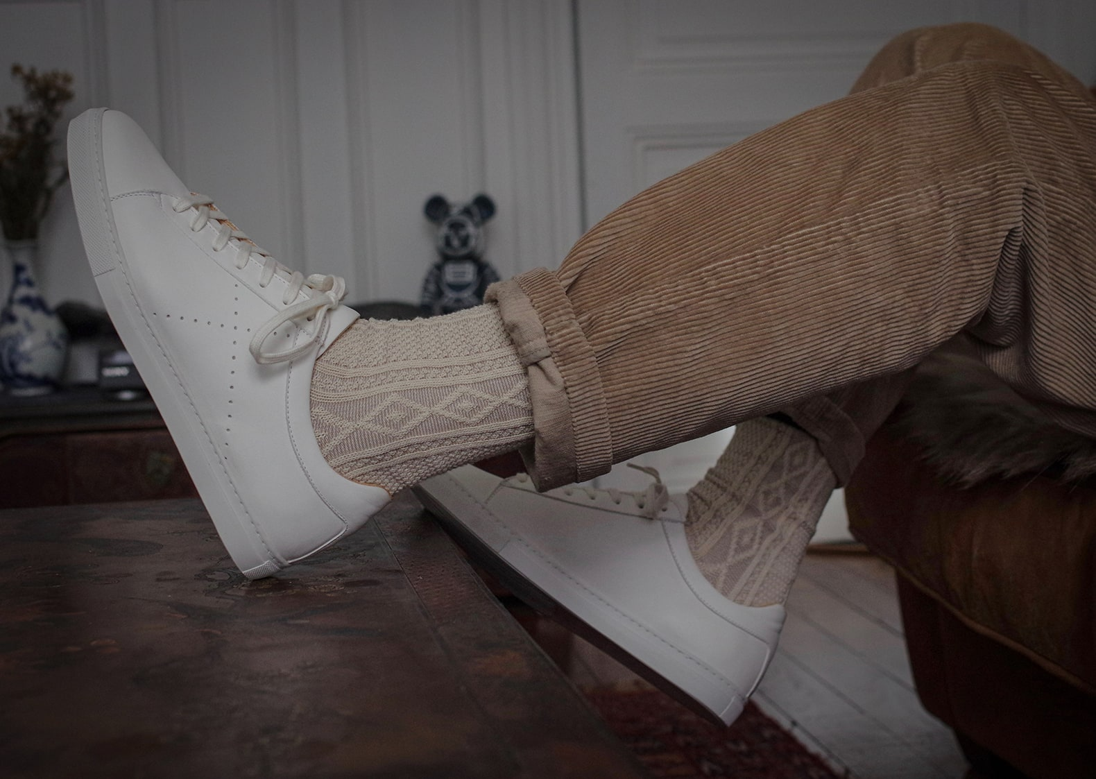 sneakers l'exception et chaussettes royalties paris kirk