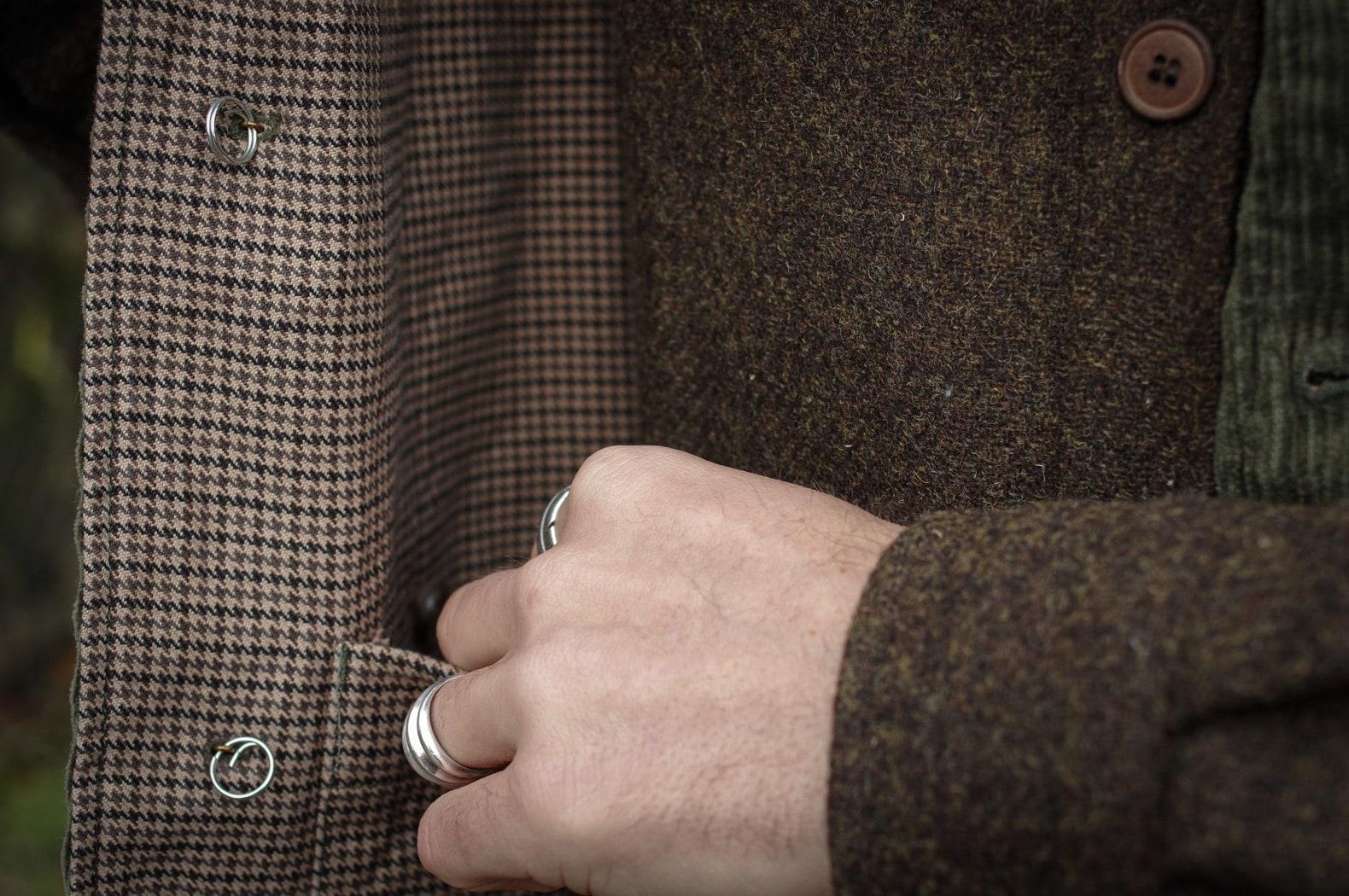 Engineered Garments Brown 8W Corduroy Upland Vest et surchemise laine