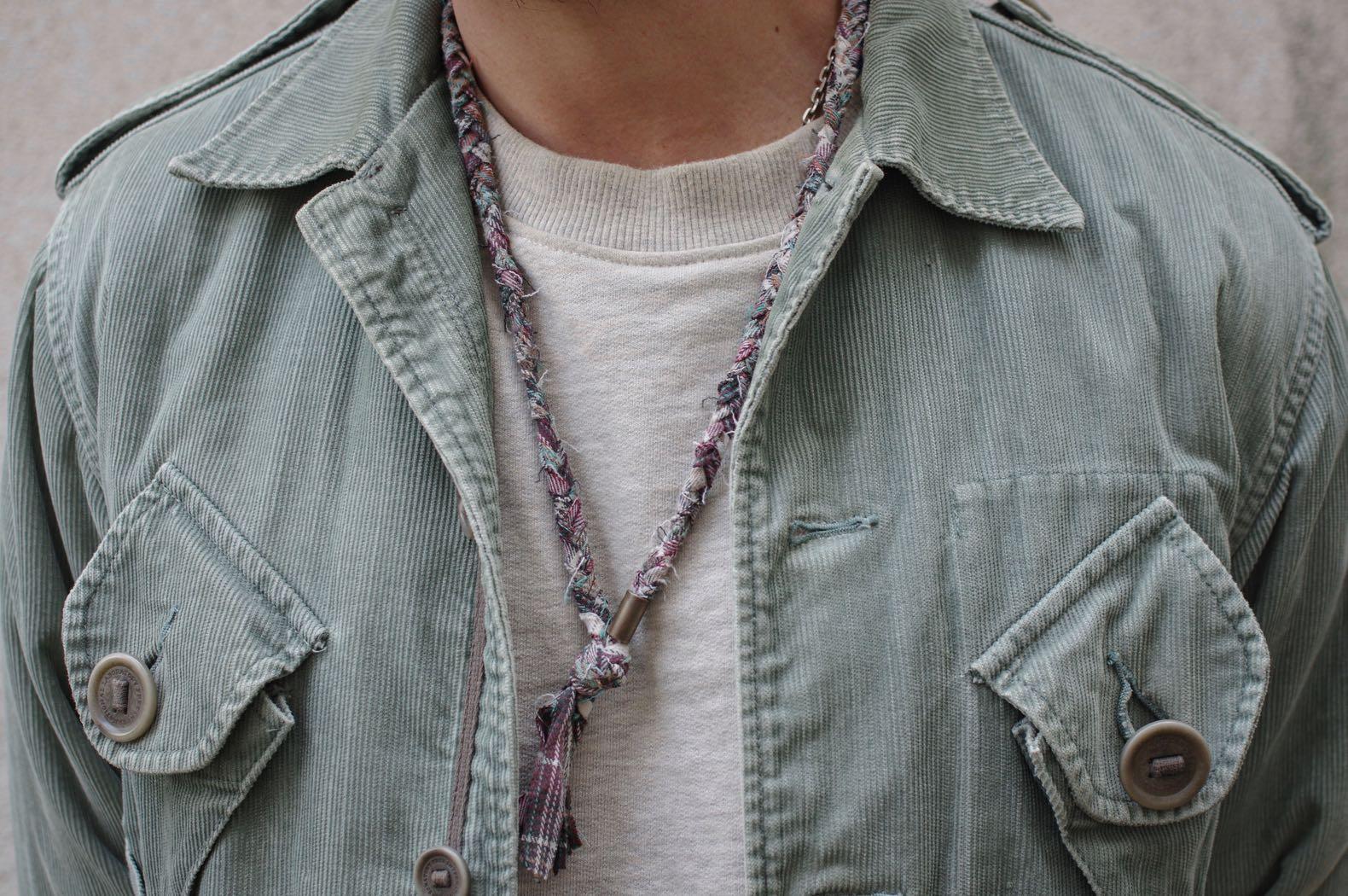 visvim caf combat jacket slub corduroy - borali necklace