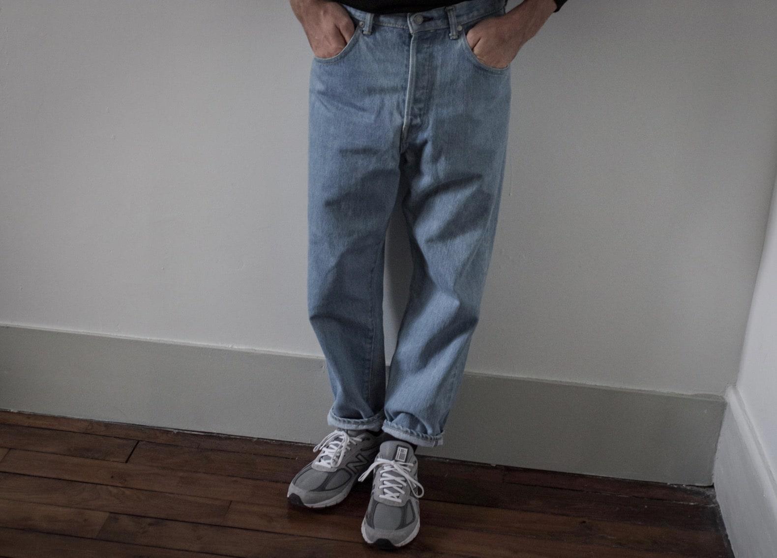 look avec jean levis 501 vintage loose tapered et new balance 990
