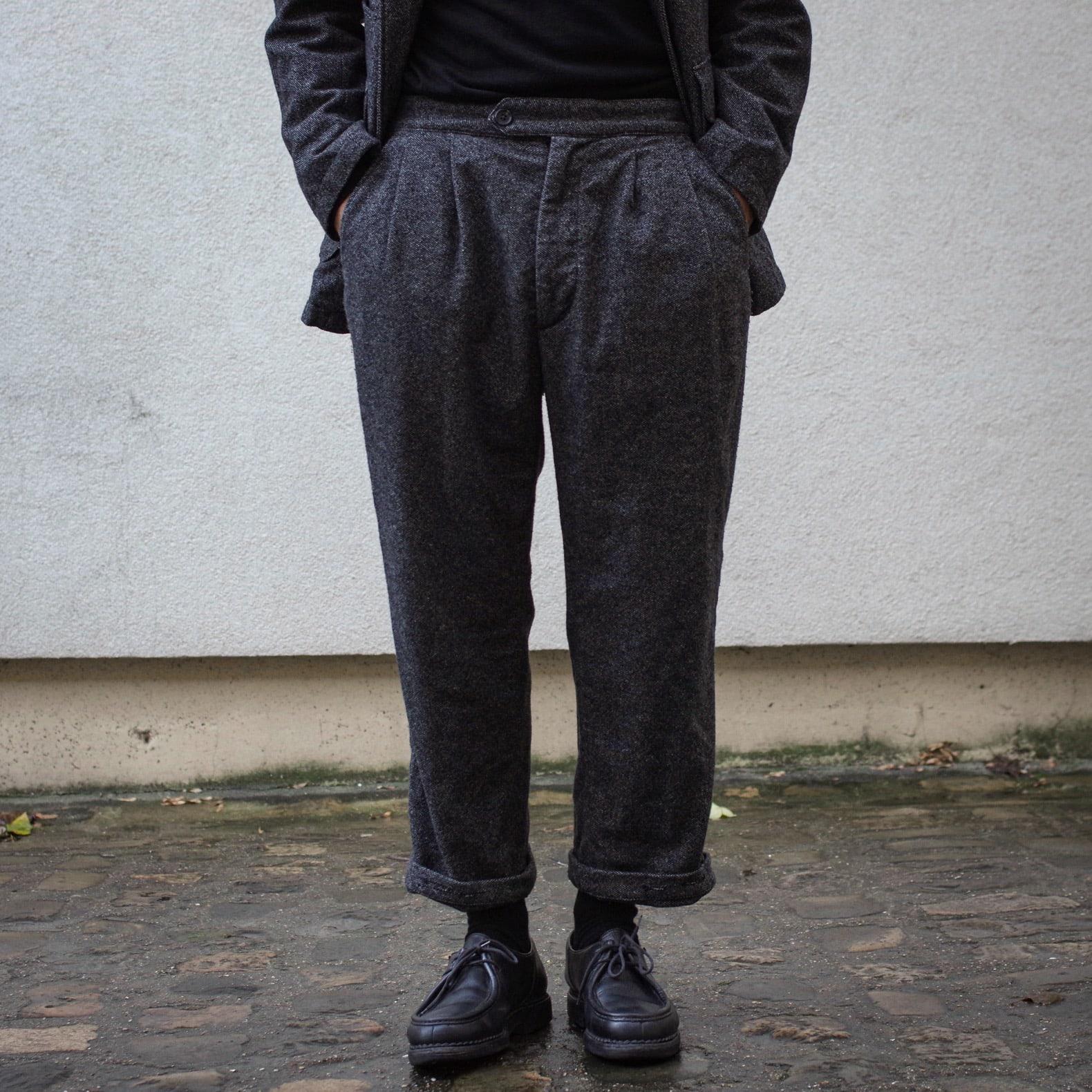 pantalon en laine et paraboot michale