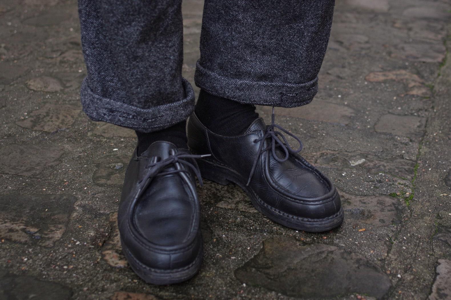 comment-porter-paraboot-michael-style-homme-homecore-chaussettes-cachemire