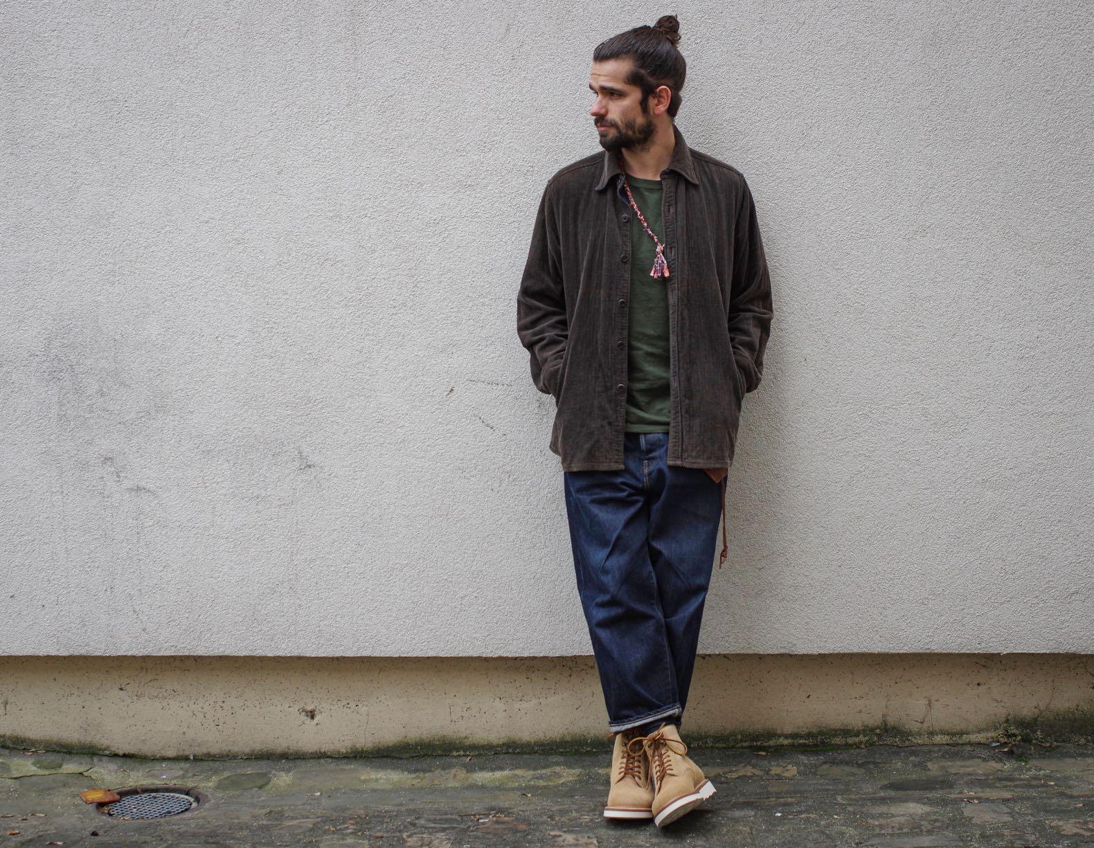 comment porter une surchemise en velours style homme workwear
