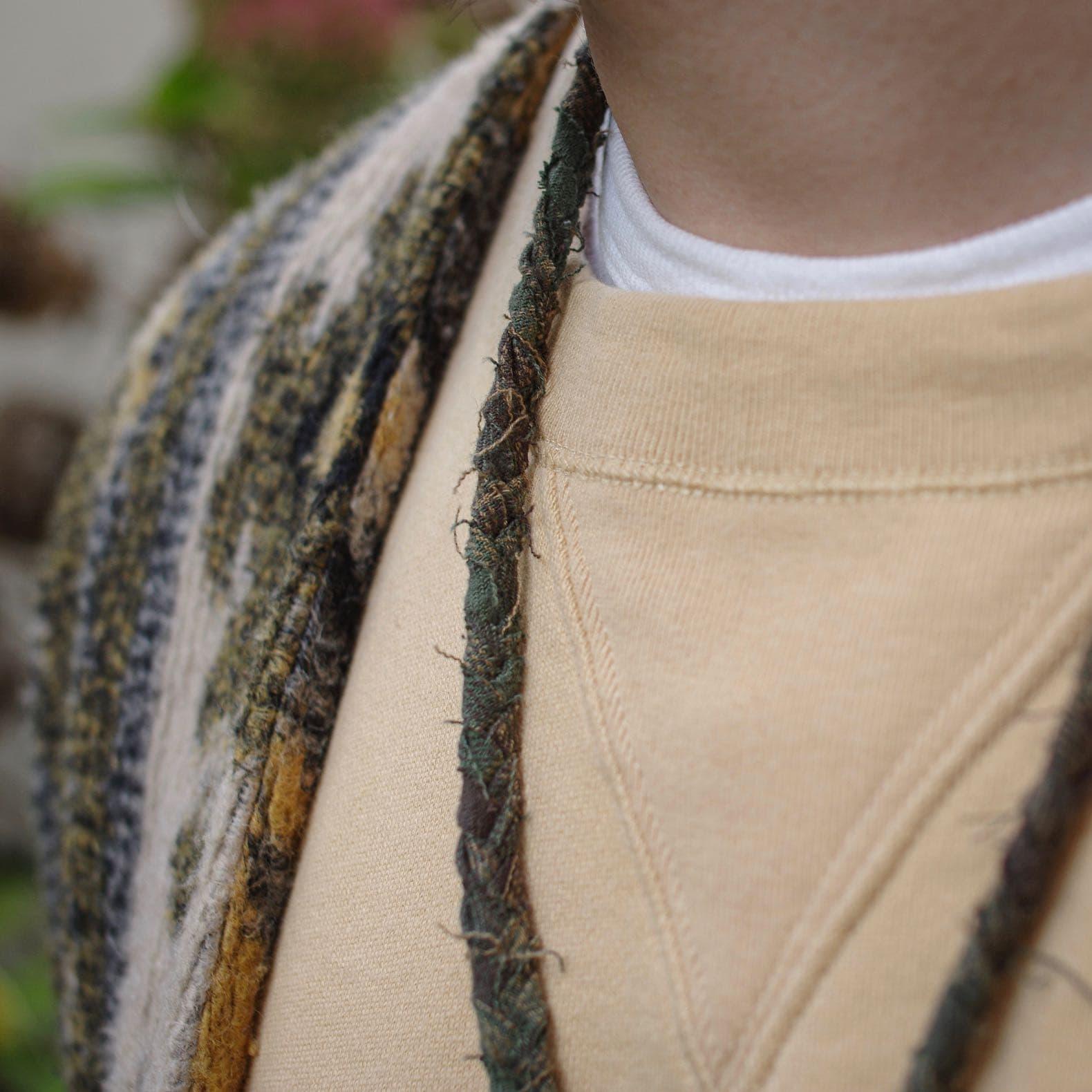 collier en tissus recyclés fait à la main en france Borali
