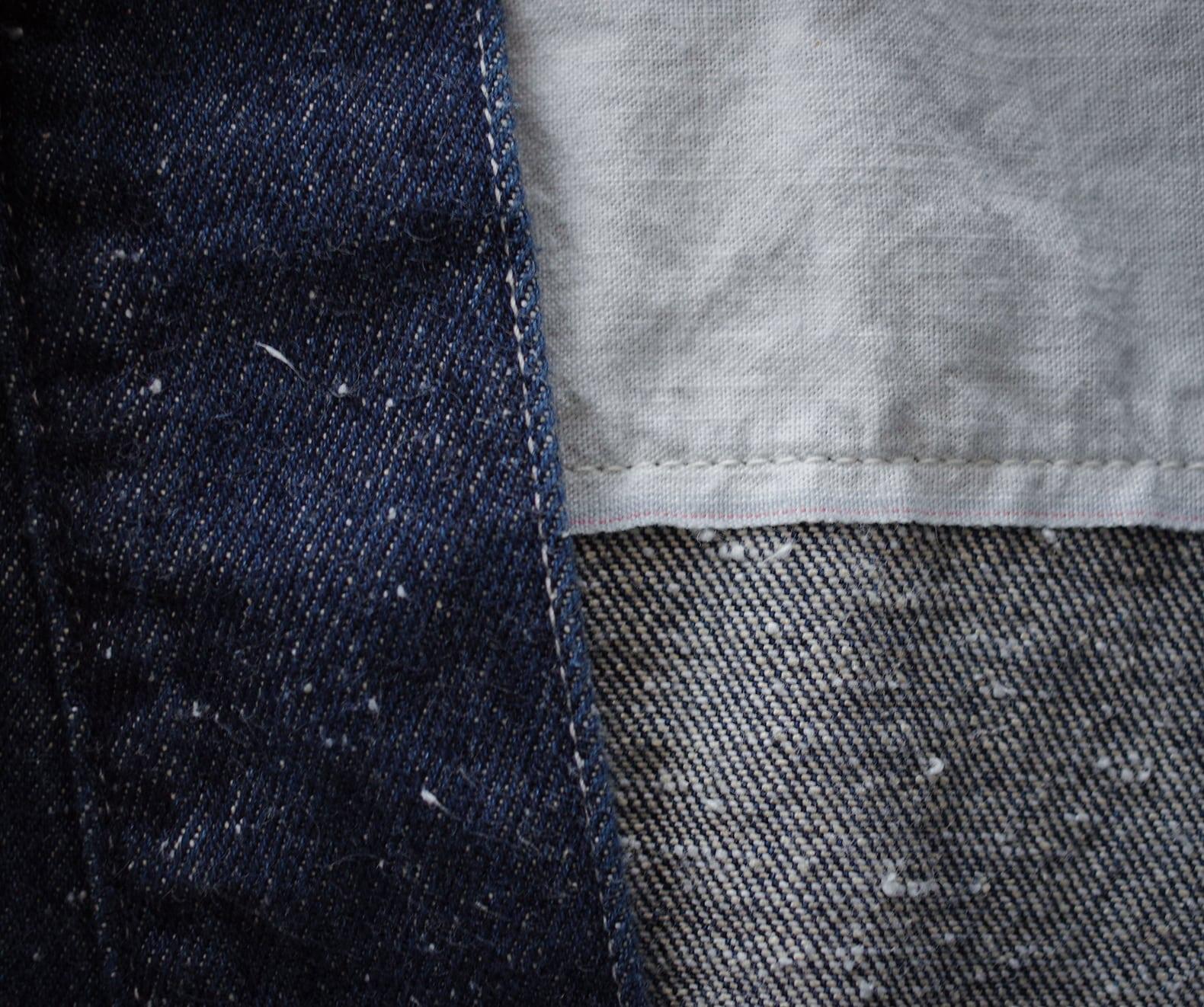détail matière selvedge noragi borali